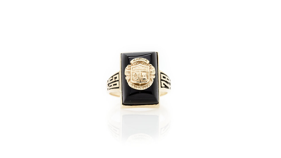 10ct Gold Jenkins Signet Ring front view