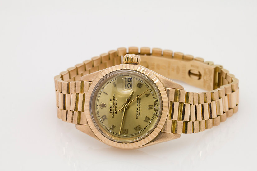 Ladies Oyster Perpetual Datejust 18ct Gold