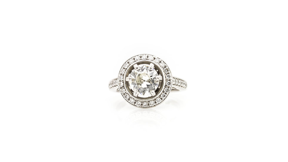1.50ct diamond solitaire with halo