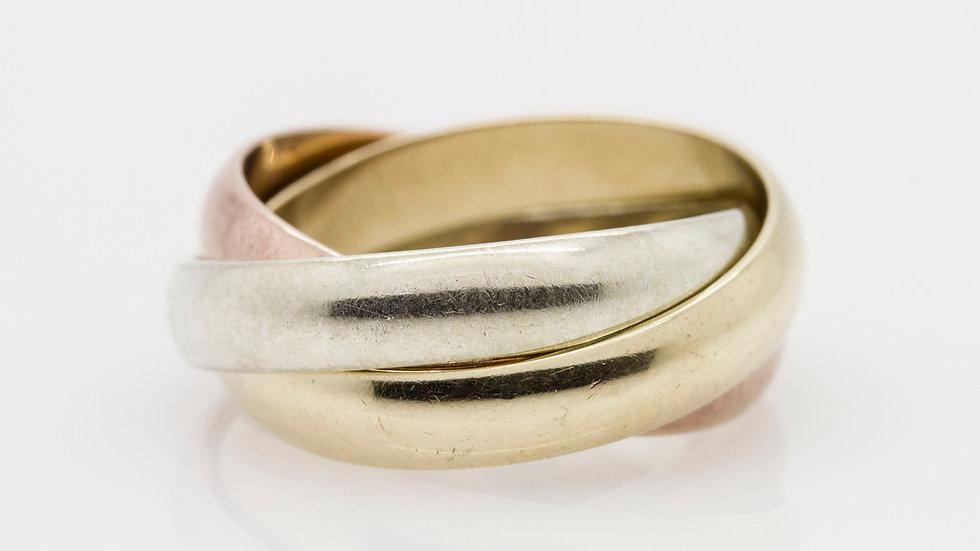 Trinity Tri-Colour Interlocking Classic Ring