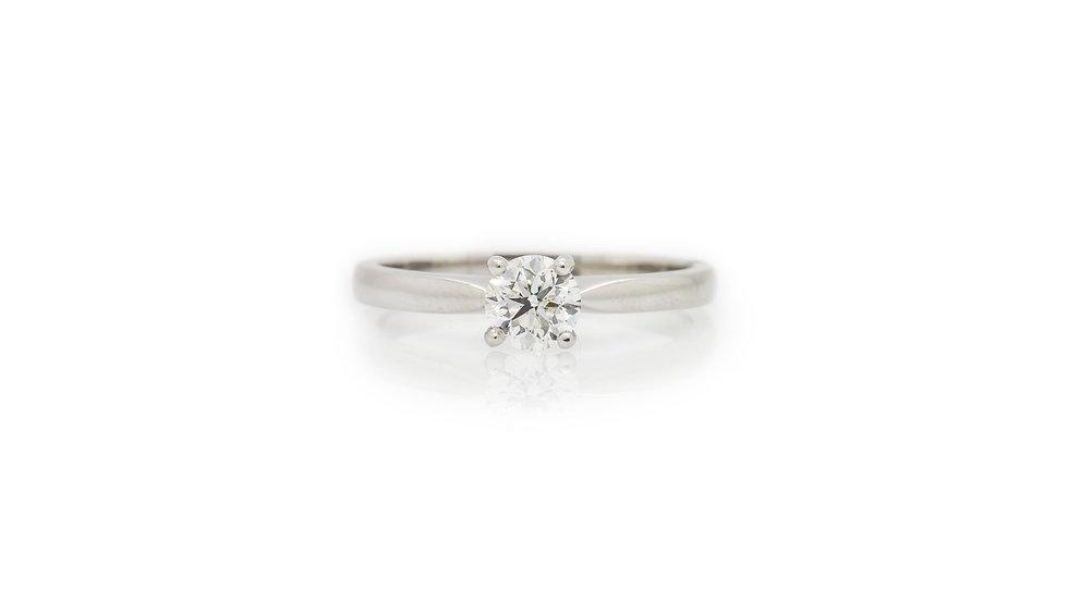 0.50ct platinum brilliant round cut diamond solitaire view 1