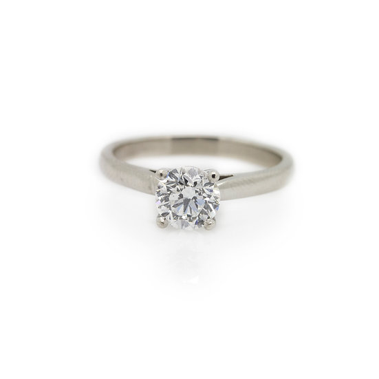 1 Carat Solitaire Diamond Ring view 1