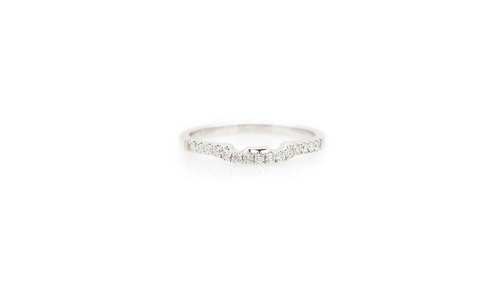 White Gold Diamond Set Shaped Wedding Band