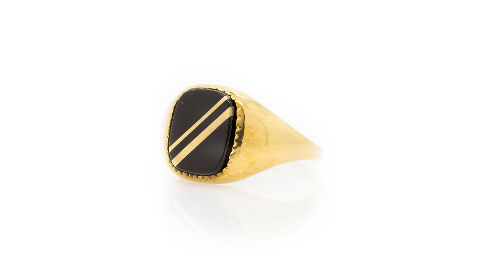 Gents Onyx Ring view 1