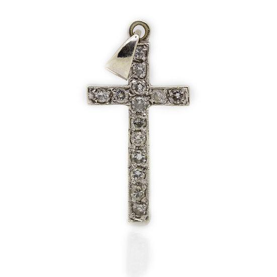 18ct Diamond Cross