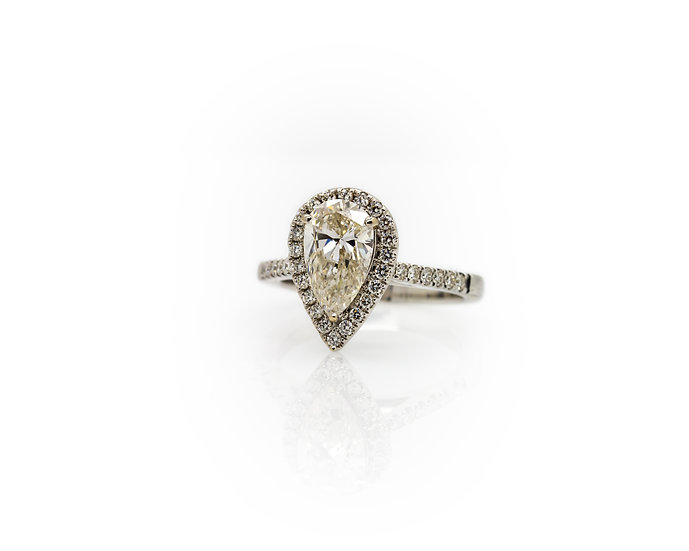 Pear Cut Diamond Halo Ring view 1