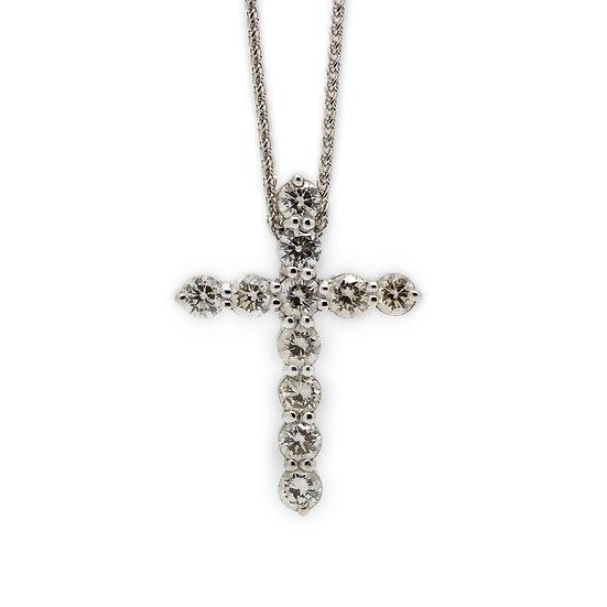 1 Carat Diamond Cross Pendant Mulroy Jewellers view 1