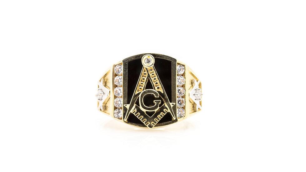 masonic onyx gents ring