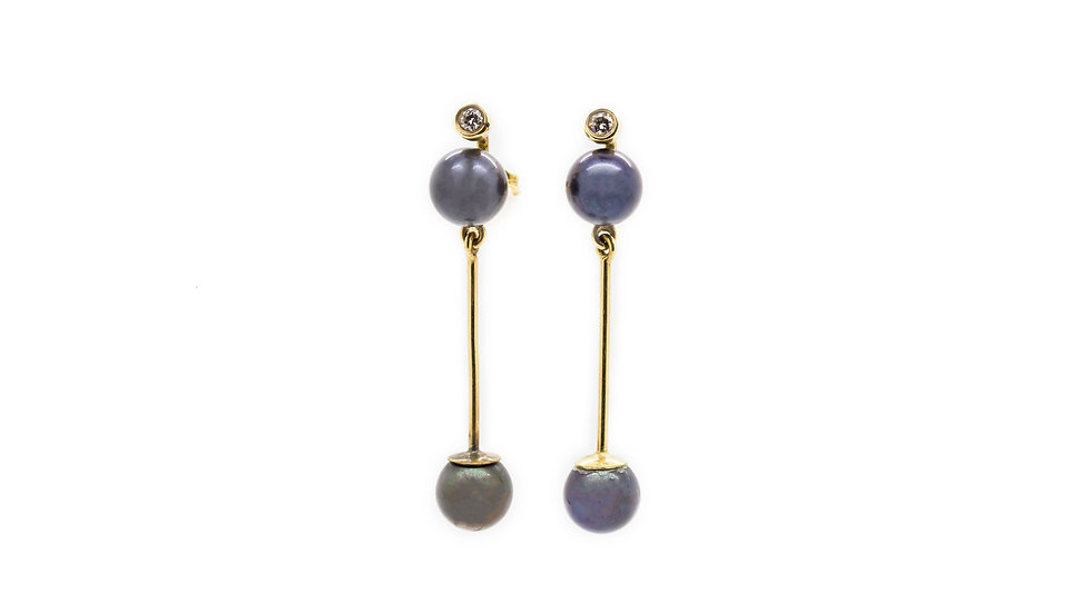 Black Pearl Earrings view 1