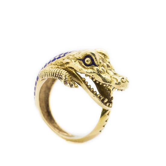 Crocodile Cocktail Ring