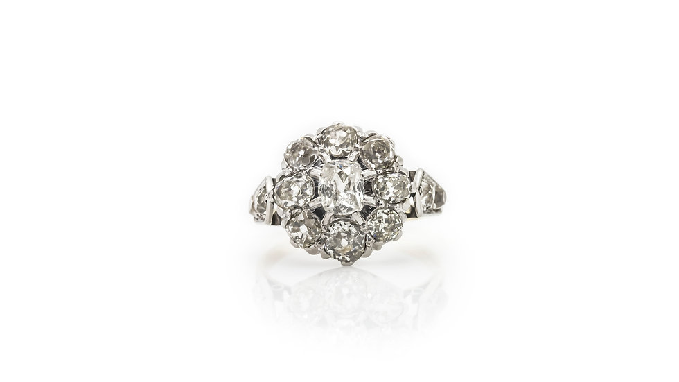 Art Deco Cluster Diamond Ring
