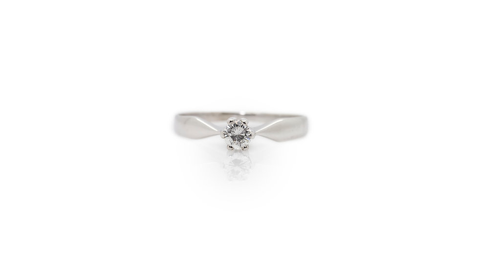 Diamond Solitaire 0.20ct Ring view 1