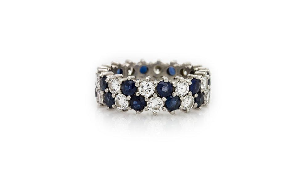 Sapphire & Diamond Band Ring Mulroy antiques view 1