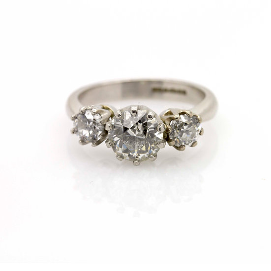 1.85ct Diamond Trilogy Ring view 1