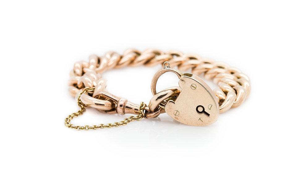 Albert 9ct Rose Gold Bracelet & Locket