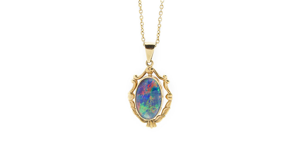 Ethiopian Opal Pendant front