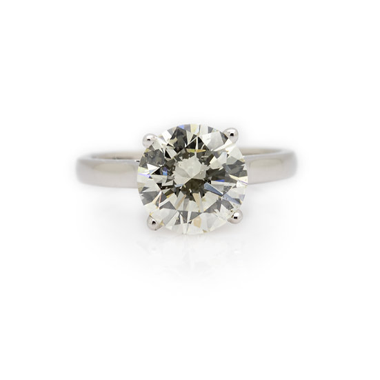 3.50 Carat Diamond Solitaire Ring Mulroy Antiques View 1