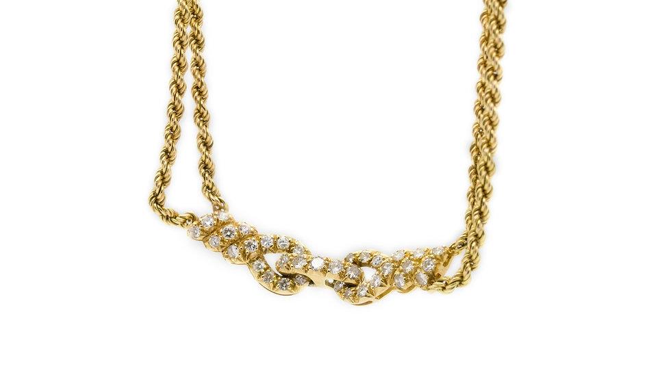 Diamond & Yellow Gold Rope Chocker