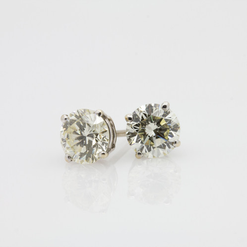 3ct Diamond Stud Earrings For Uk Antique Diamonds Gateshead Grosvenor Jewellers