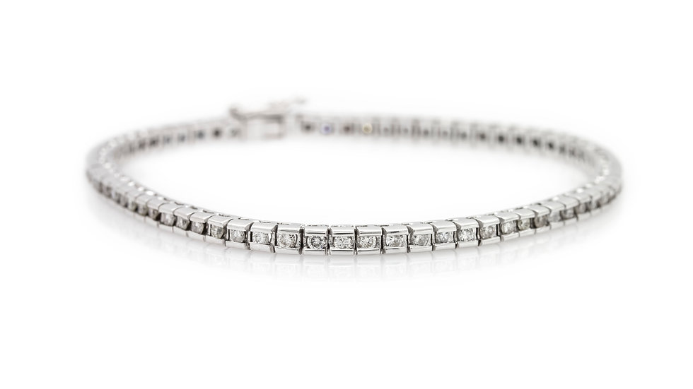 Diamond tennis bracelet Mulroy Antiques view 1