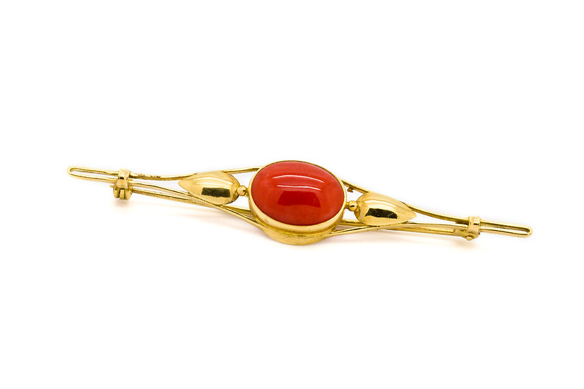 Coral Broach