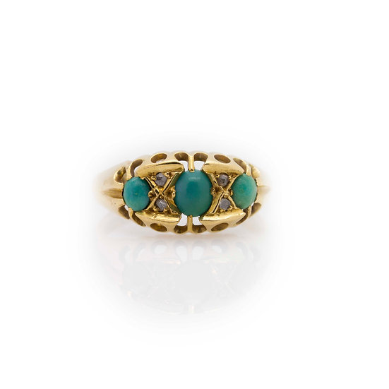 Turquoise Trilogy Ring view 1