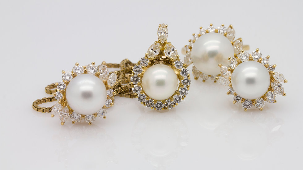 Marbella South Sea Pearl & Diamond set