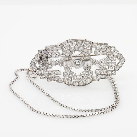 Diamond  Brooch & Necklace