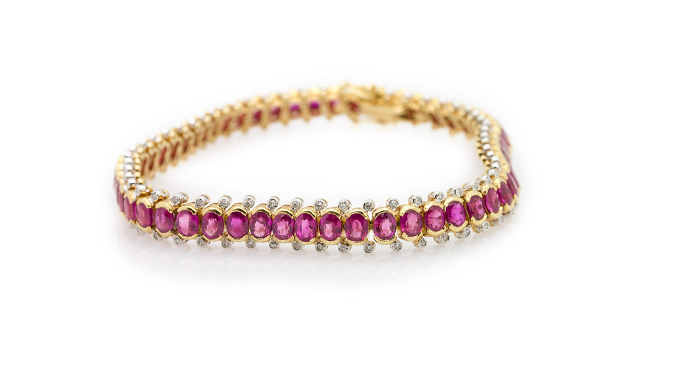 Ruby & Diamond Bracelet view 1