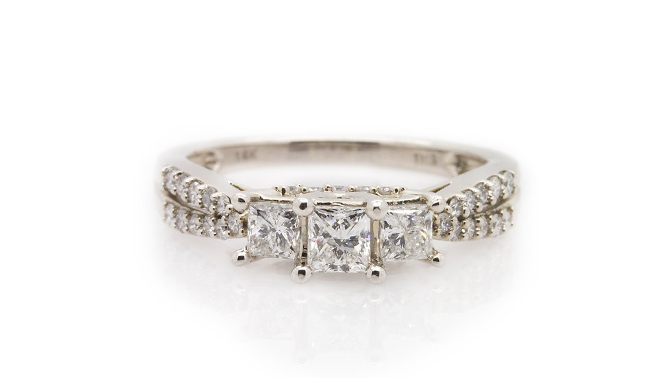 Princess Trilogy Diamond Ring