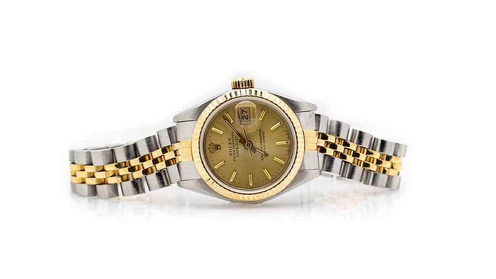 Oyster Perpetual Datejust Steel 18 Carat Ladies Watch