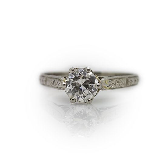 Solitaire Diamond Ring mulroy antiques