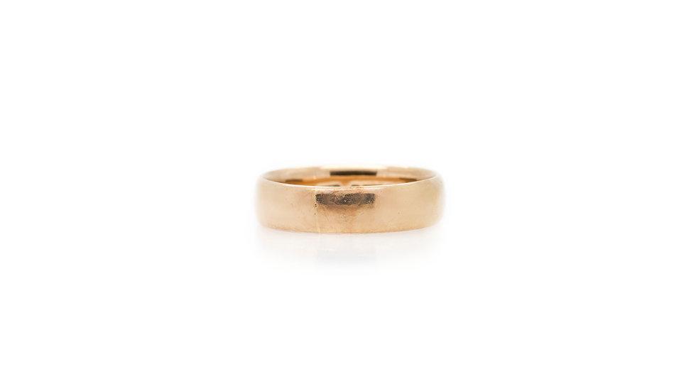 Plain Rose Gold Wedding Band newcastle upon tyne