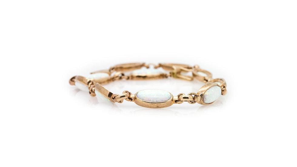 rose gold opal bracelet