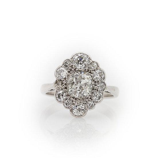 Cushion Cut Diamond Ring view 1