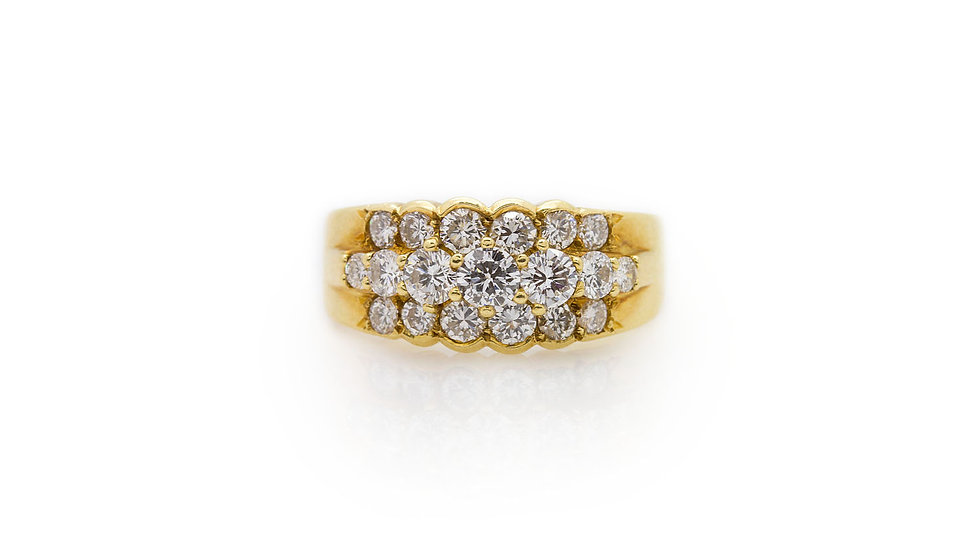 1.20ct Diamond Cluster ring