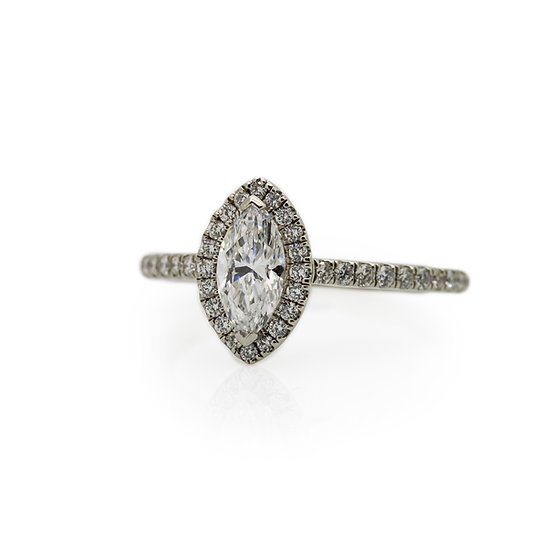 Raphael Platinum Marquise Cut Diamond Engagement Ring