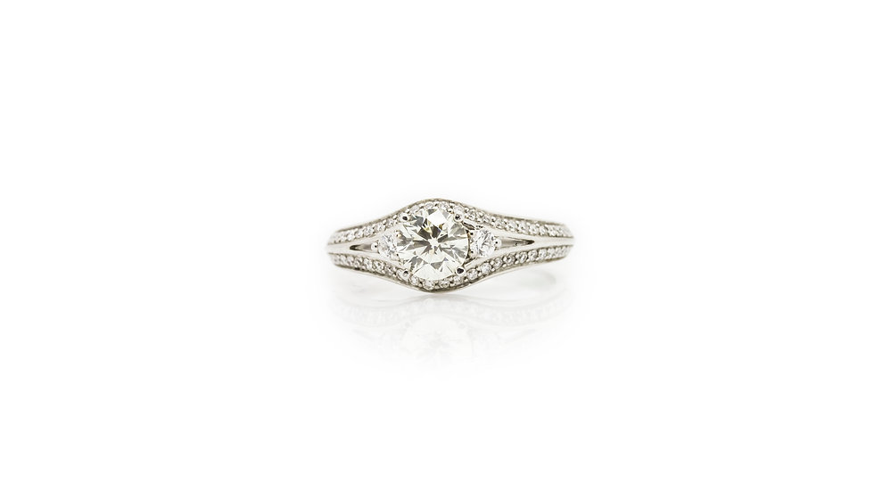 Diamond Solitaire Ring front view