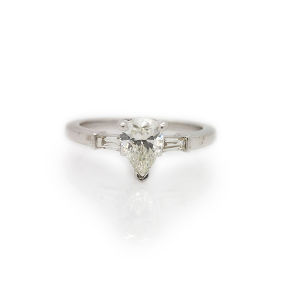 1 Carat Pear Cut Diamond Solitaire view 1