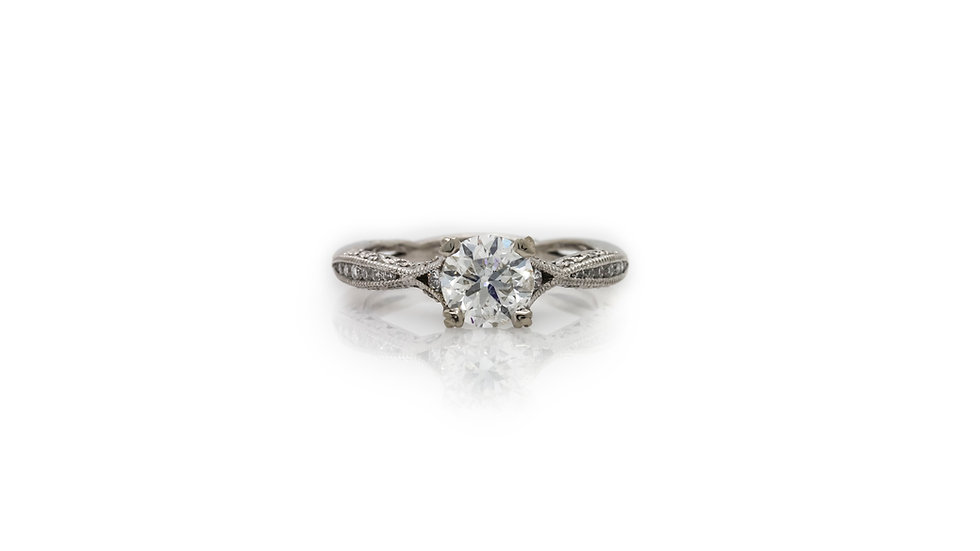 1ct Solitaire With Diamond Shank