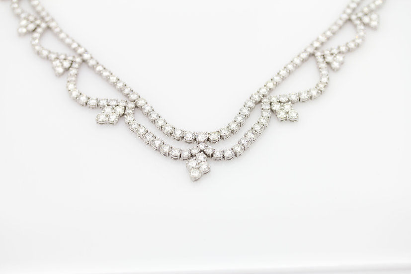 Round Cut Diamond Necklace