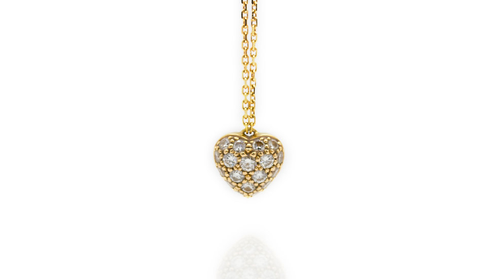 Cartier Diamond Heart Necklace