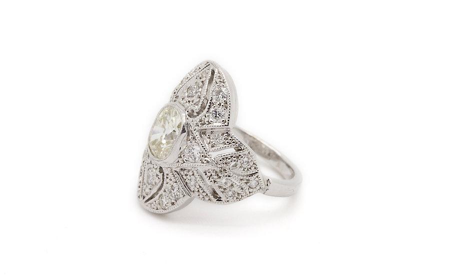 Art Deco Style Diamond Cluster