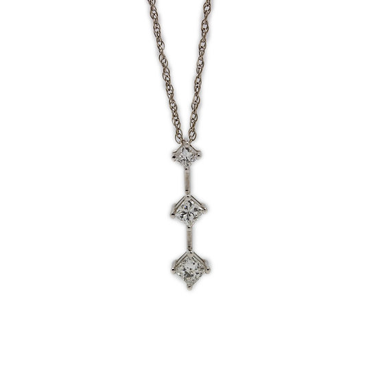 Princess diamond Trilogy Pendant