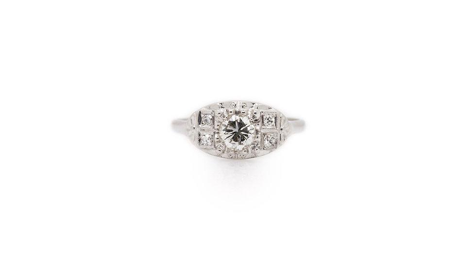 Art Deco Style Diamond Solitaire Ring