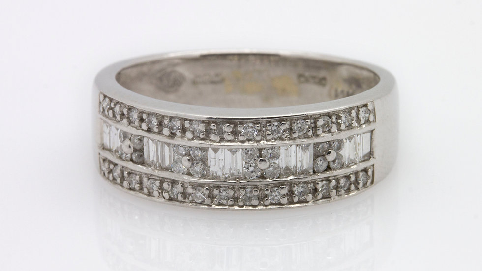 Diamond Wedding Band front