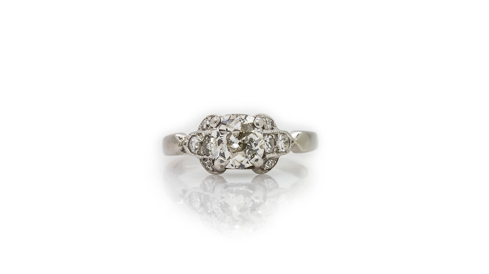 Classic Vintage Solitaire Diamond Ring view 1