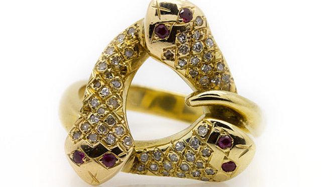 3 Snake Ring