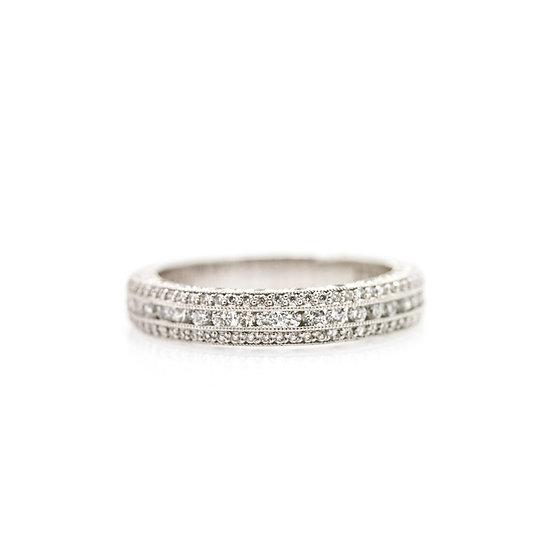 Platinum Diamond Band Ring view 1