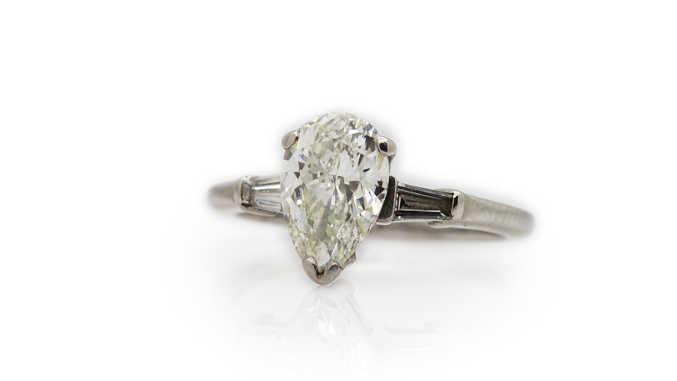 Pear Cut Diamond Ring